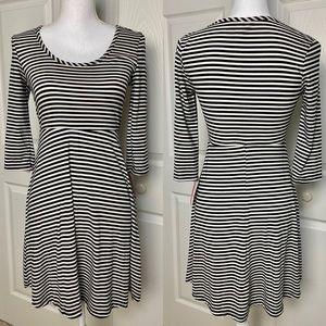 Xhilaration Black & White Striped Dress